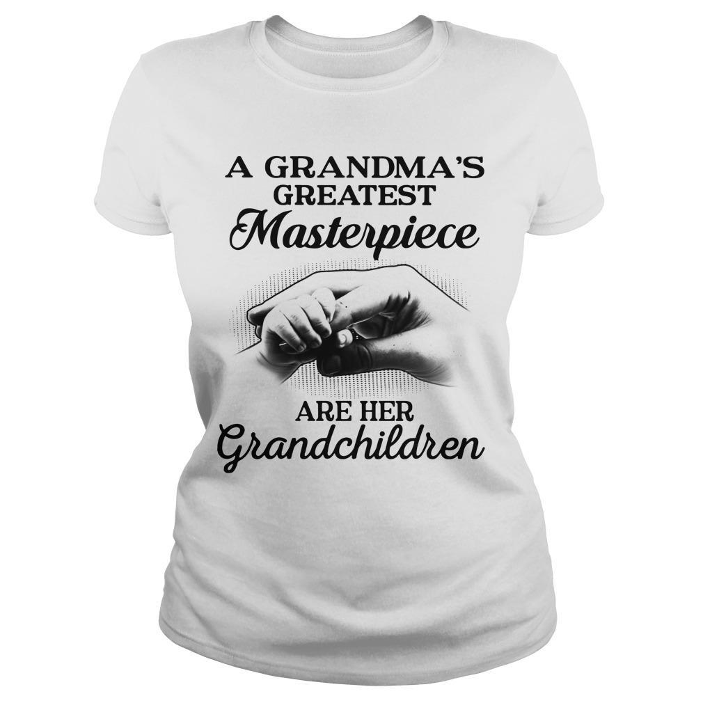 A Grandma's Greatest Masterpiece Are Her Grandchildren Longsleeve
