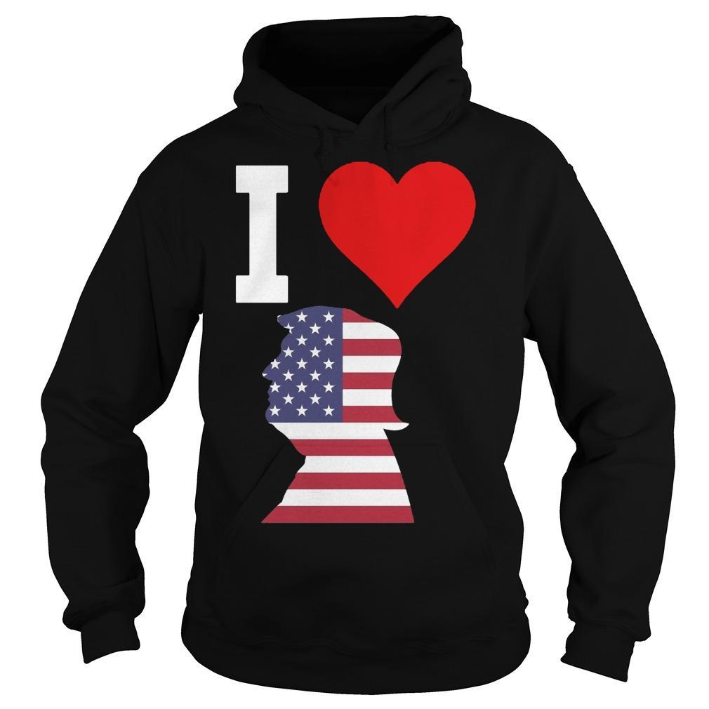 American Flag I Love Trump Hoodie