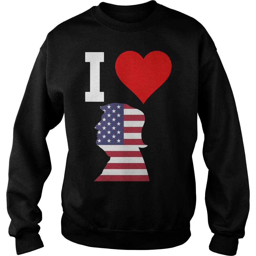 American Flag I Love Trump Sweater