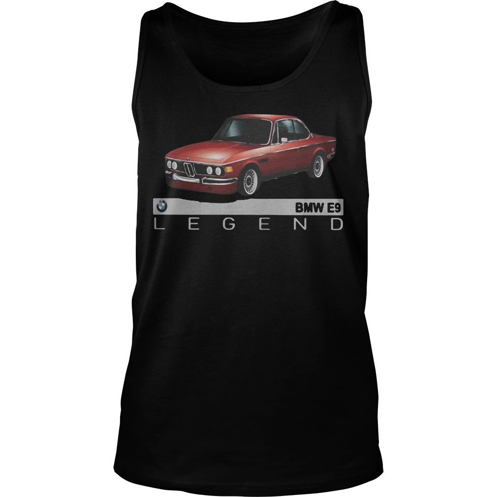 Car Bmw E9 Legend Tank Top