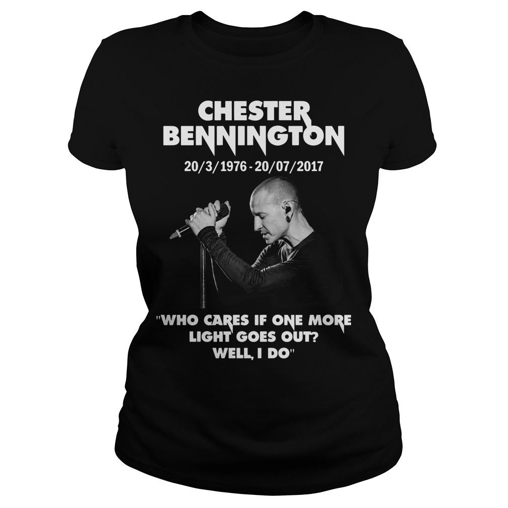 Chester Bennington Who Cares If One More Light Goes Out Well I Do Longsleeve