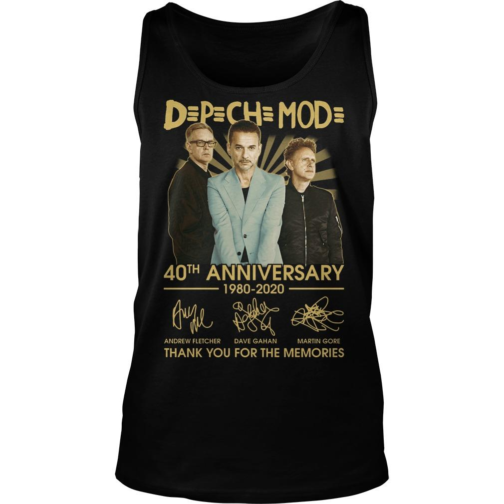 Depeche Mode 40th Anniversary 1980 2020 Thank You For The Memories Tank Top