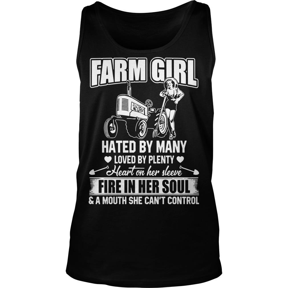 Farm Girl Hated By Many Loved By Plenty Heart On Her Sleeve Tank Top