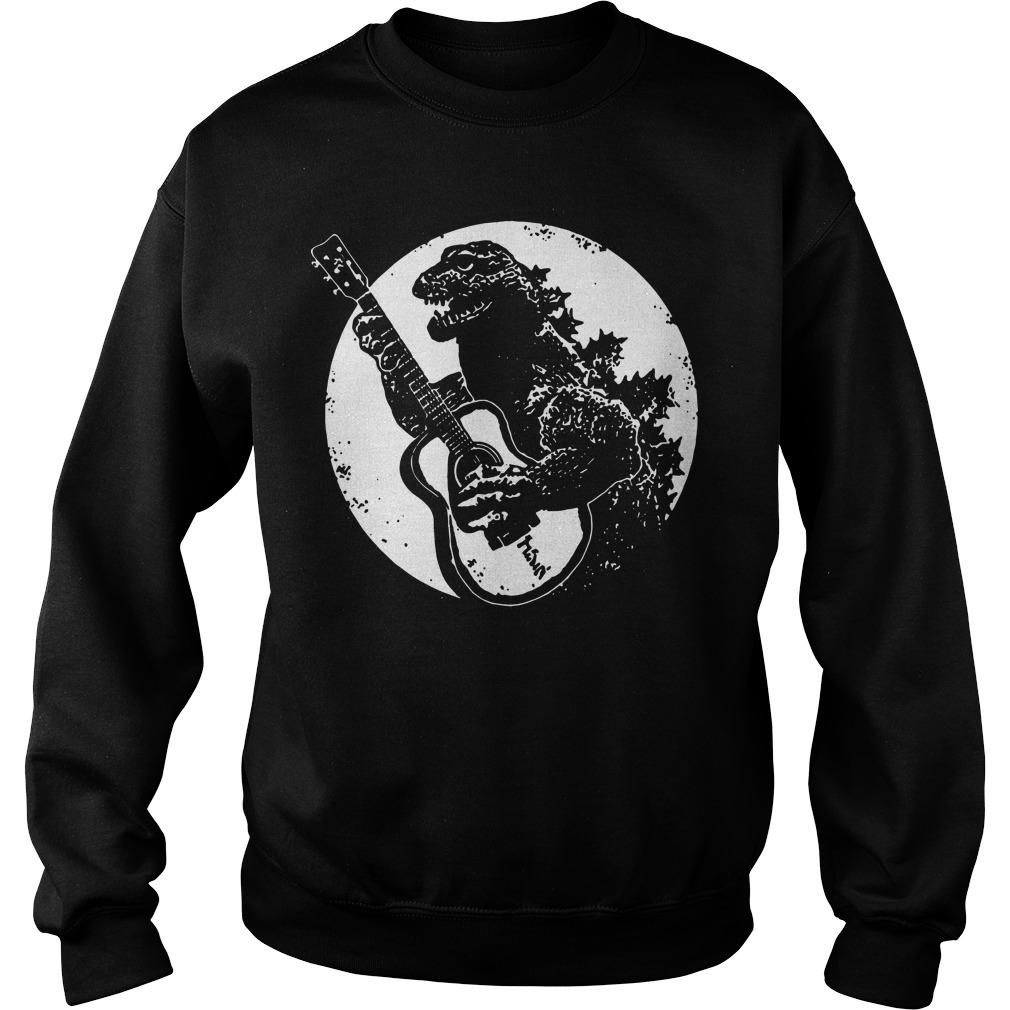 Godzilla Playing Guitar Sweater