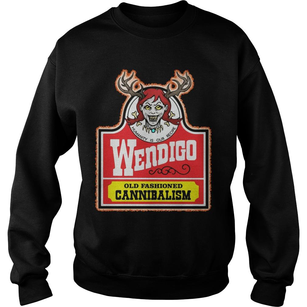 Humanity Is Our Recipe Wendigo Old Fashioned Cannibalism Sweater