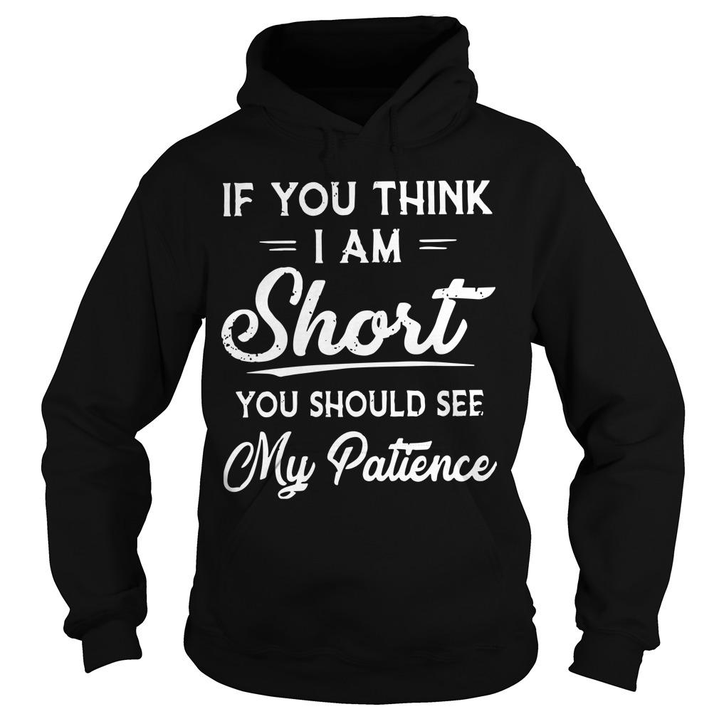 If You Think I Am Short You Should See My Patience Hoodie