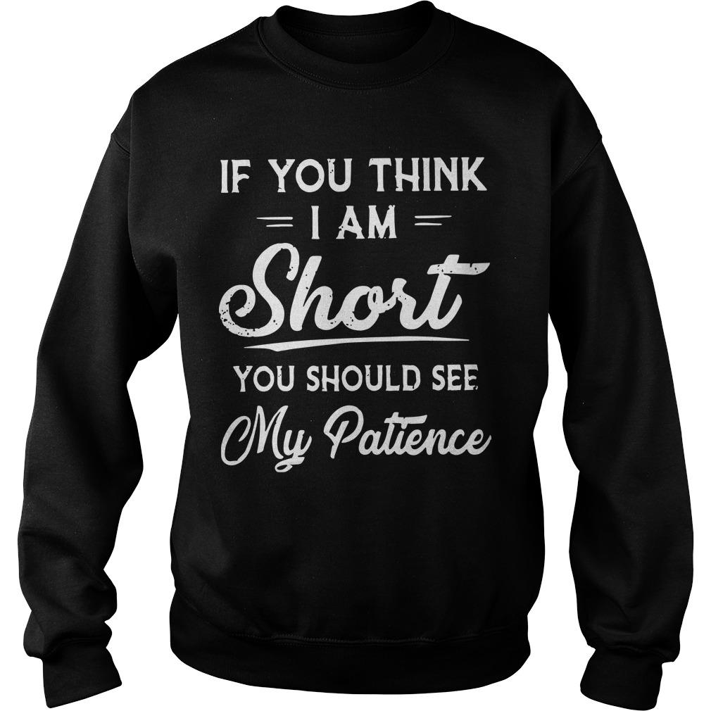 If You Think I Am Short You Should See My Patience Sweater