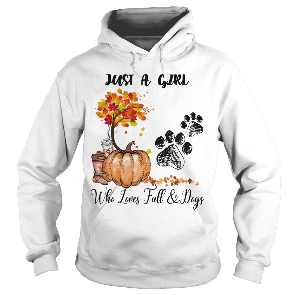 Just A Girl Who Loves Fall And Dogs Hoodie