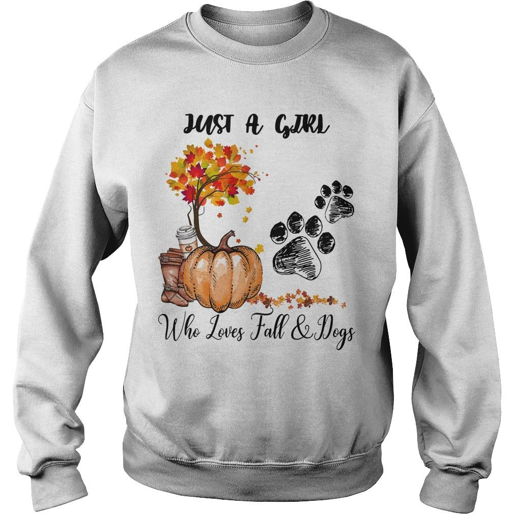 Just A Girl Who Loves Fall And Dogs Sweater