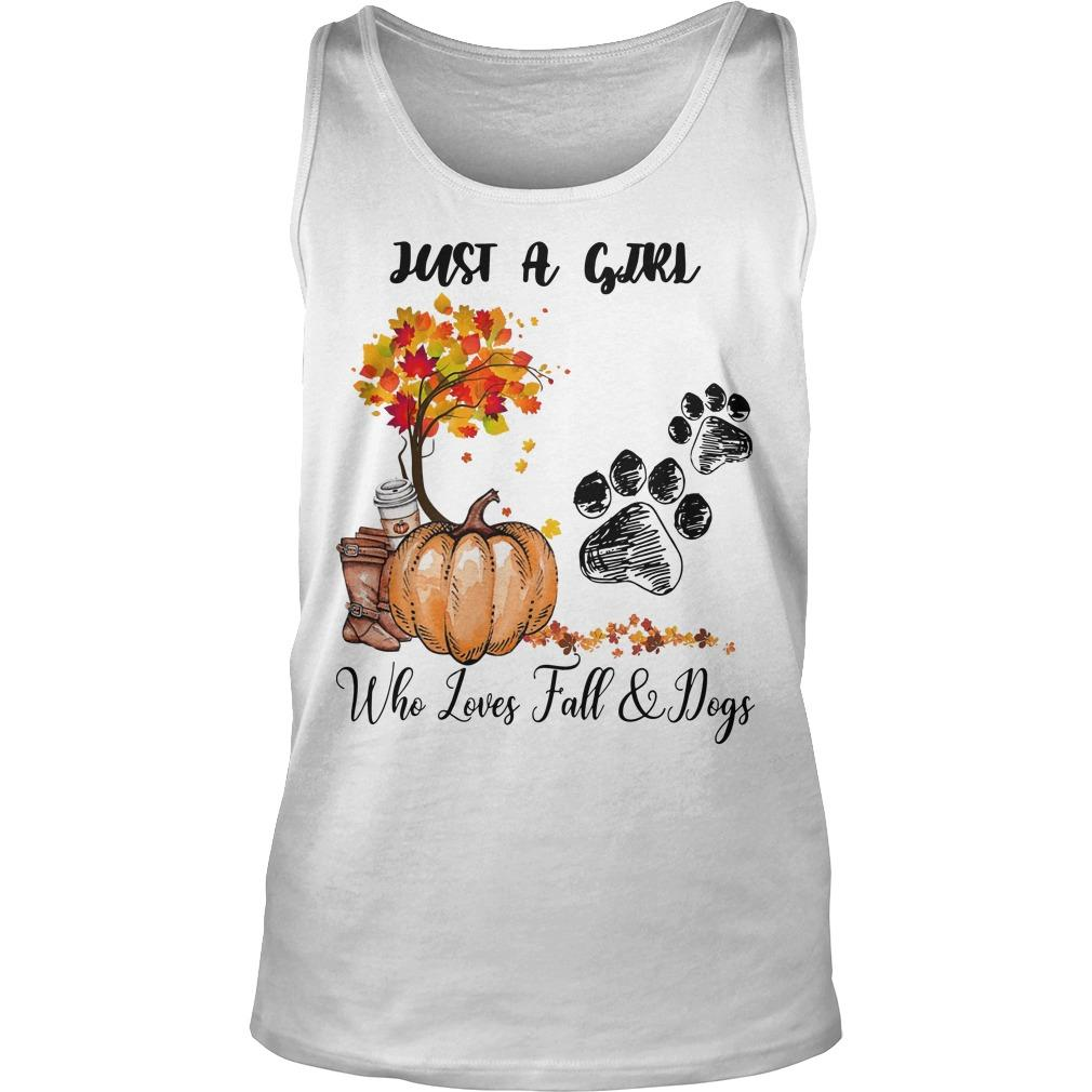 Just A Girl Who Loves Fall And Dogs Tank Top