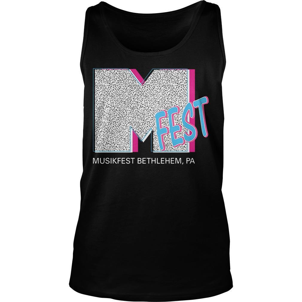 M Fest Musikfest Bethlehem Pa Tank Top