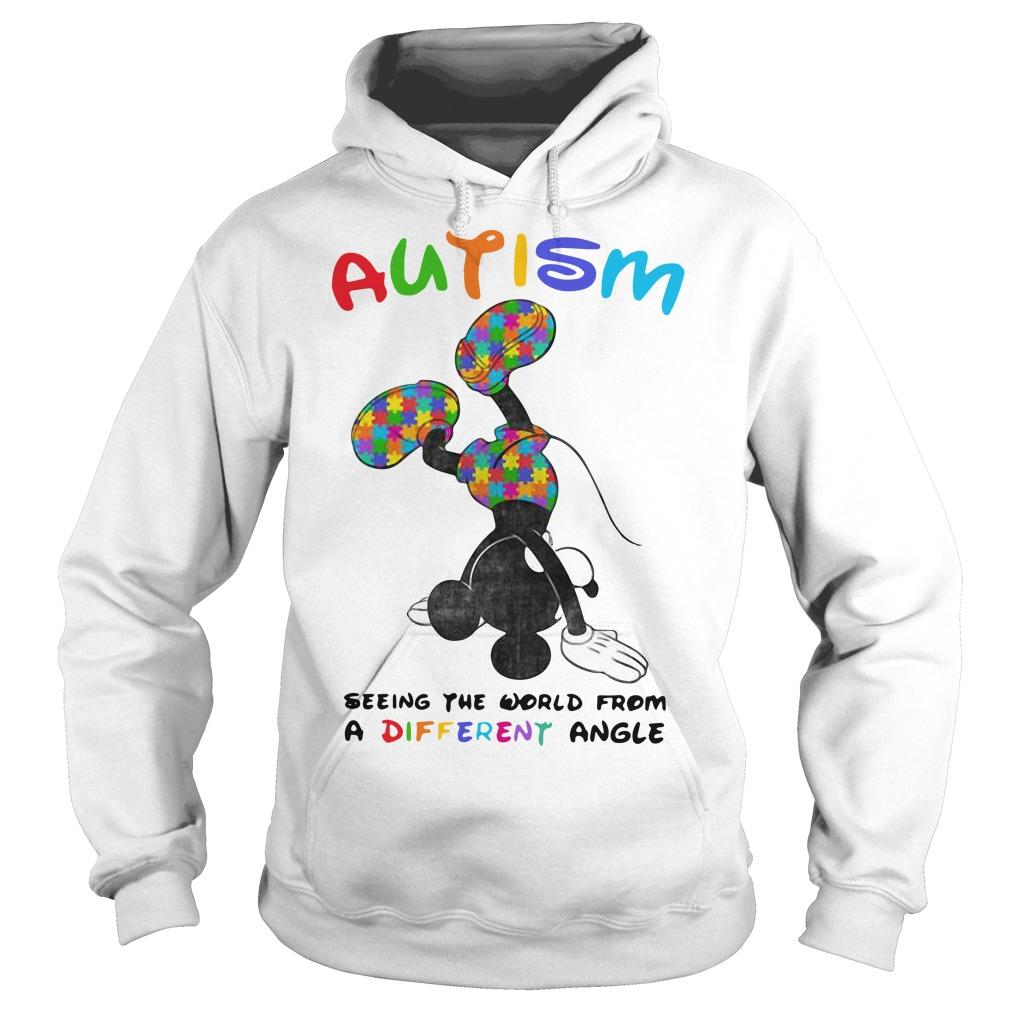 Mickey Autism Seeing The World From A Different Angle Hoodie