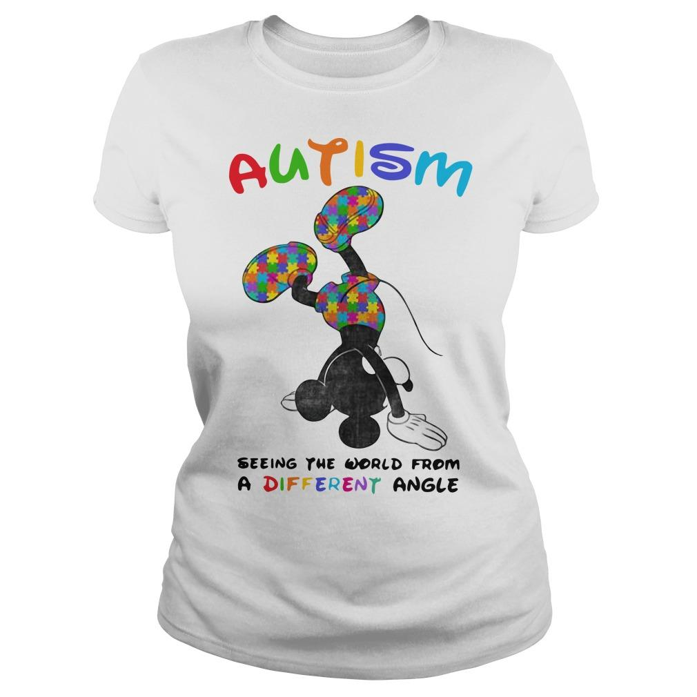 Mickey Autism Seeing The World From A Different Angle Longsleeve