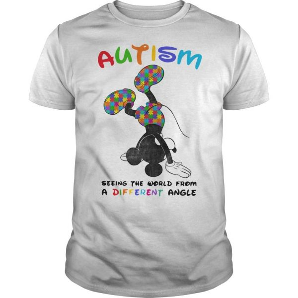Mickey Autism Seeing The World From A Different Angle Shirt