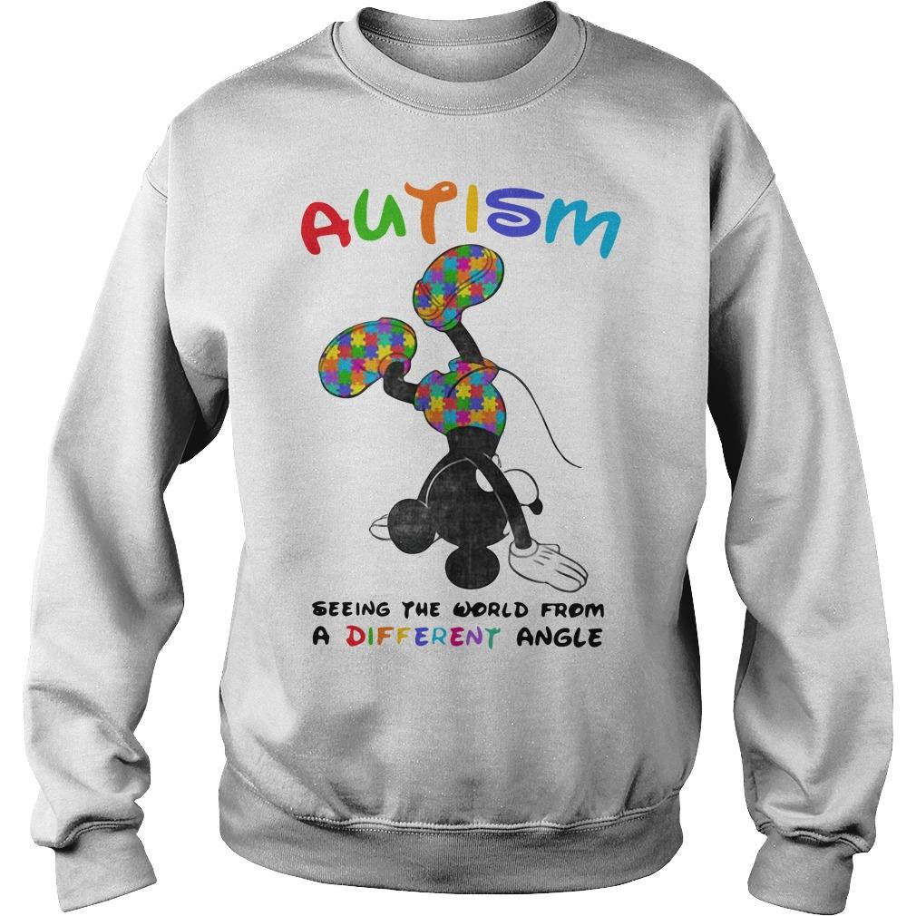 Mickey Autism Seeing The World From A Different Angle Sweater