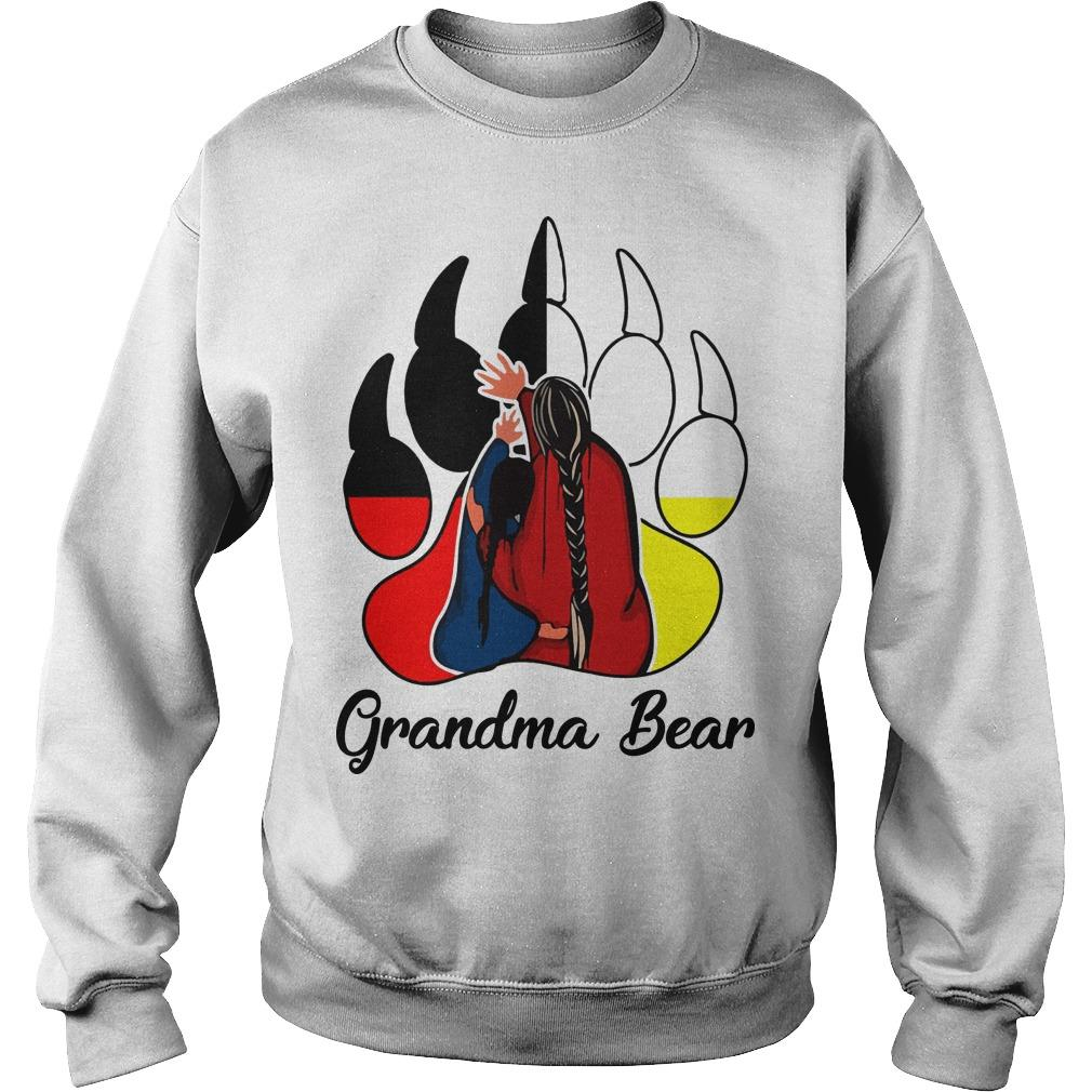 Native Grandma Bear Sweater