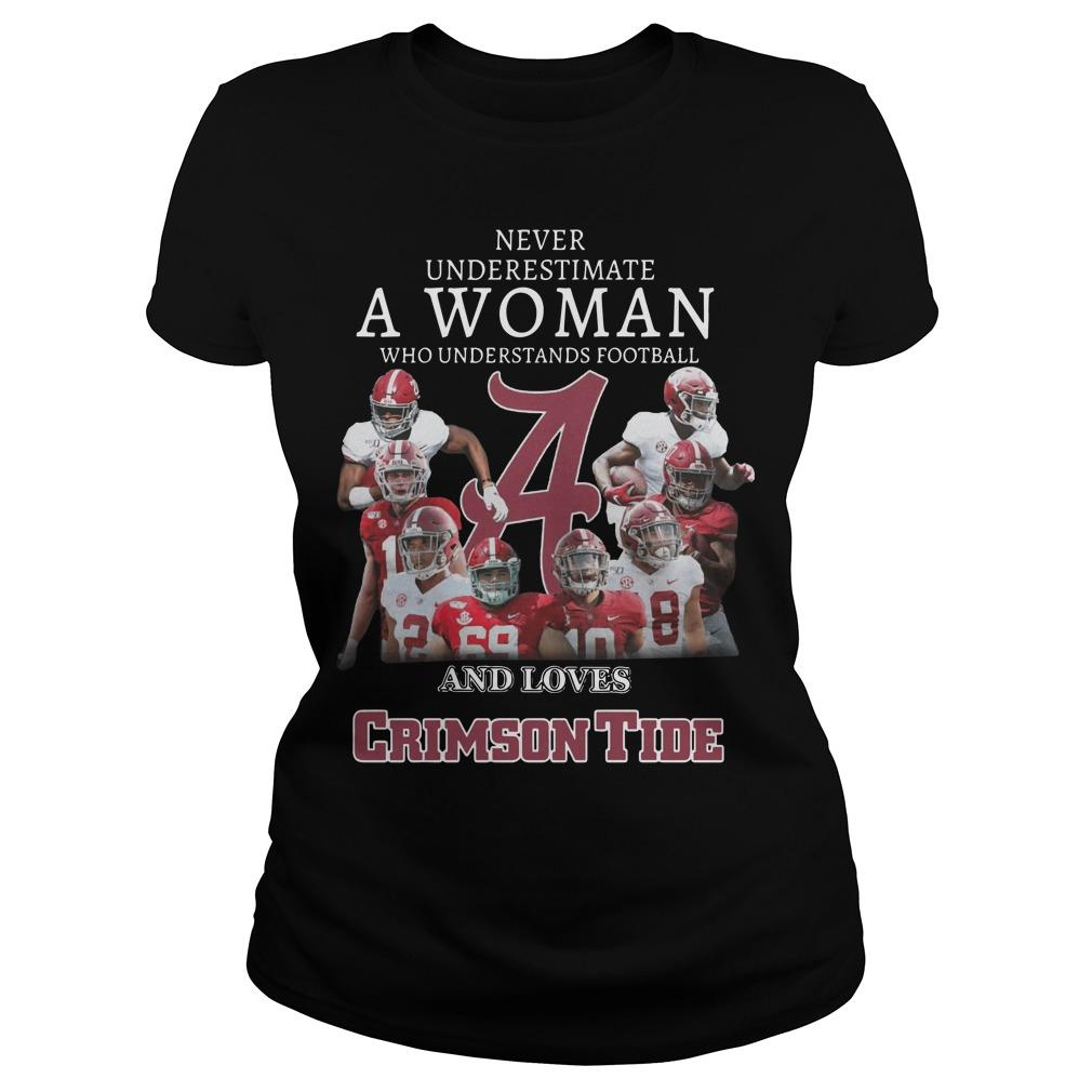 Never Underestimate A Woman Who Understands Football And Loves Crimson Tide Longsleeve