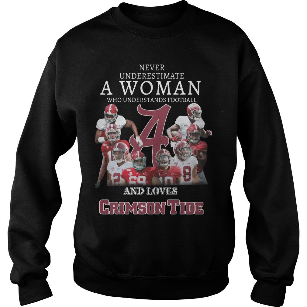 Never Underestimate A Woman Who Understands Football And Loves Crimson Tide Sweater