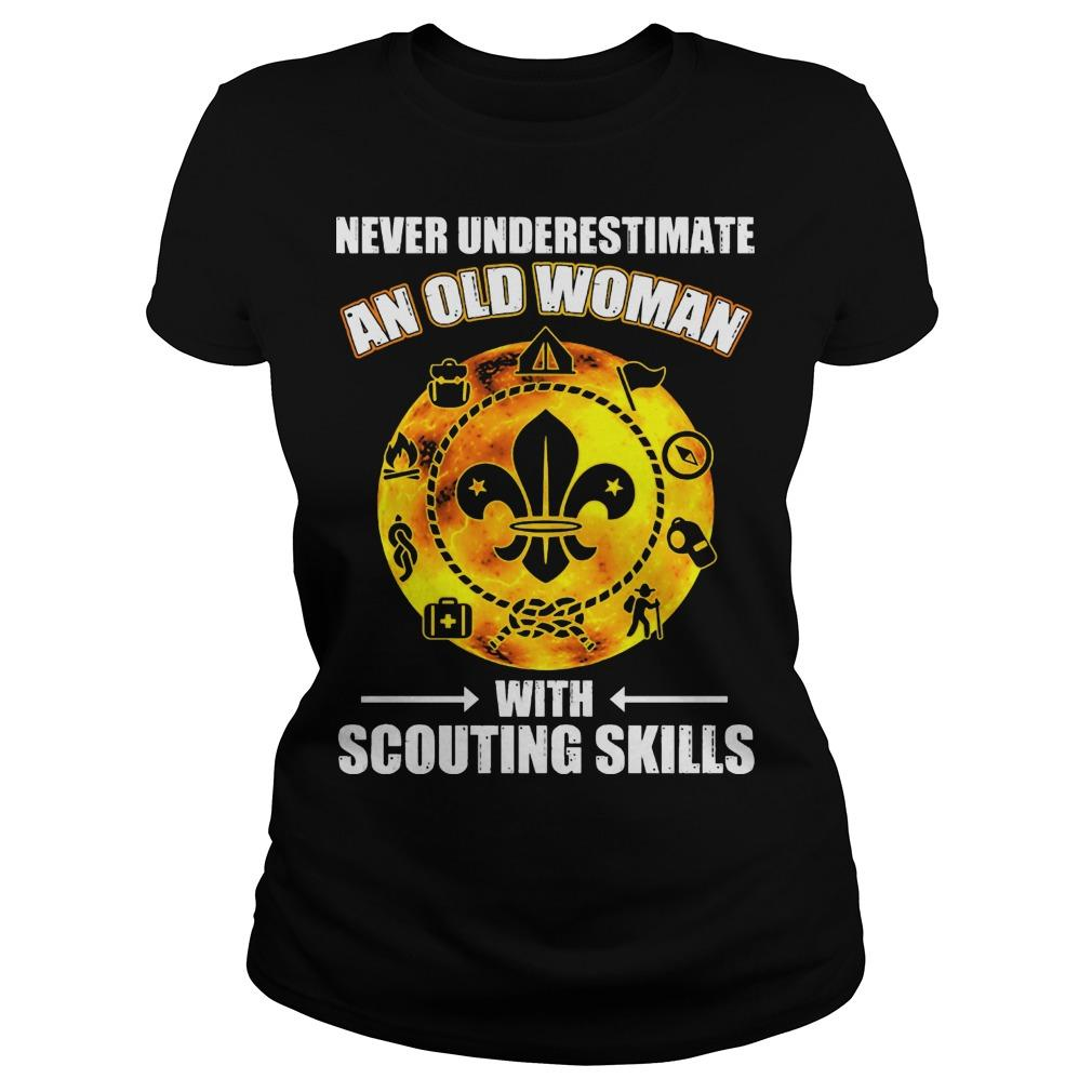 Never Underestimate An Old Woman With Scouting Skills Longsleeve