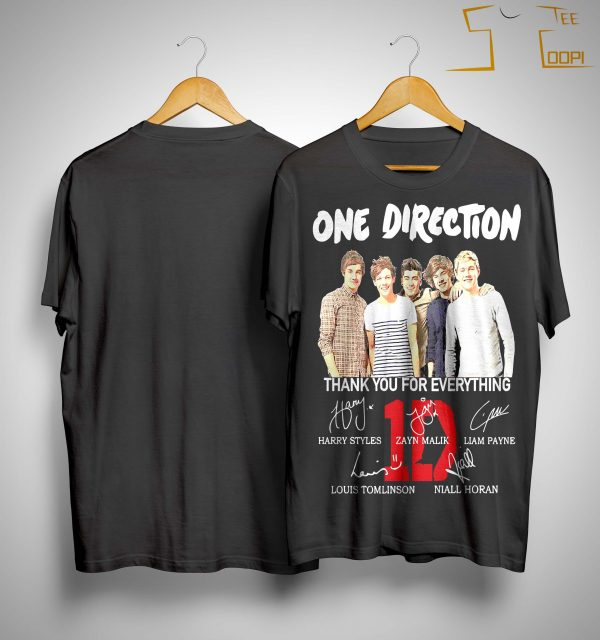 One Direction Signature Thank You For Everything Shirt