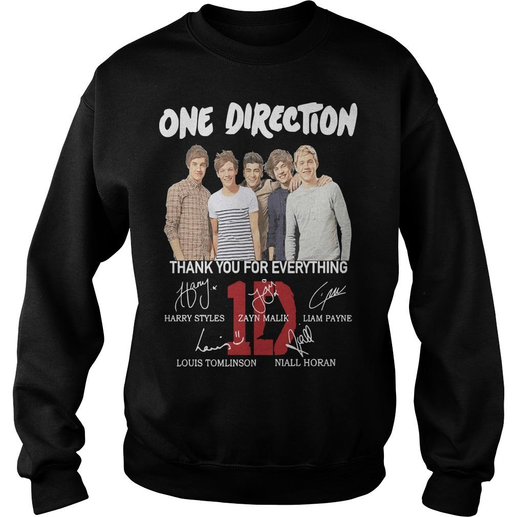 One Direction Signature Thank You For Everything Sweater