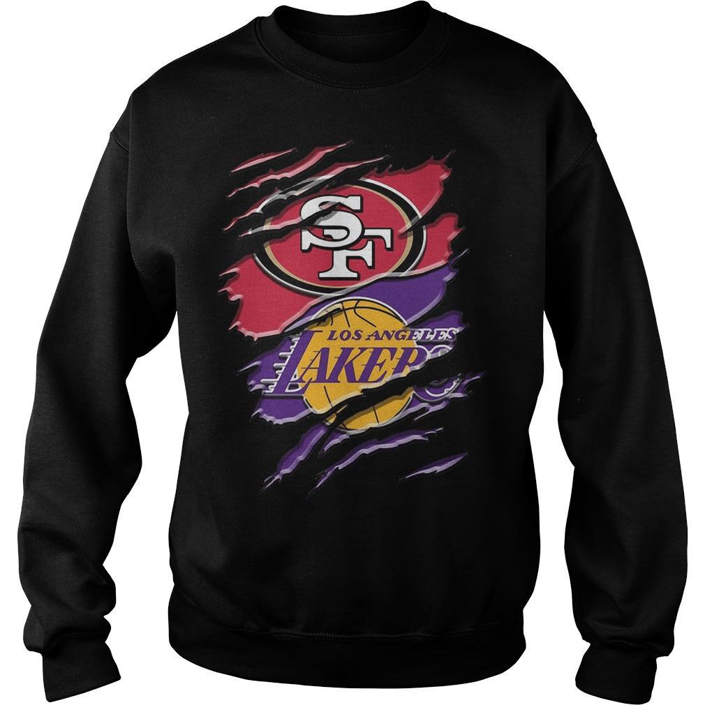 San Francisco 49ers Vs Los Angeles Lakers Sweater
