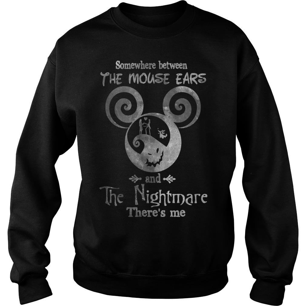 Somewhere Between The Mouse Ears And The Nightmare There's Me Sweater
