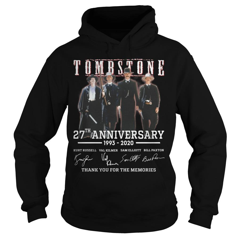 Tombstone 27th Anniversary Thank You For The Memories Hoodie
