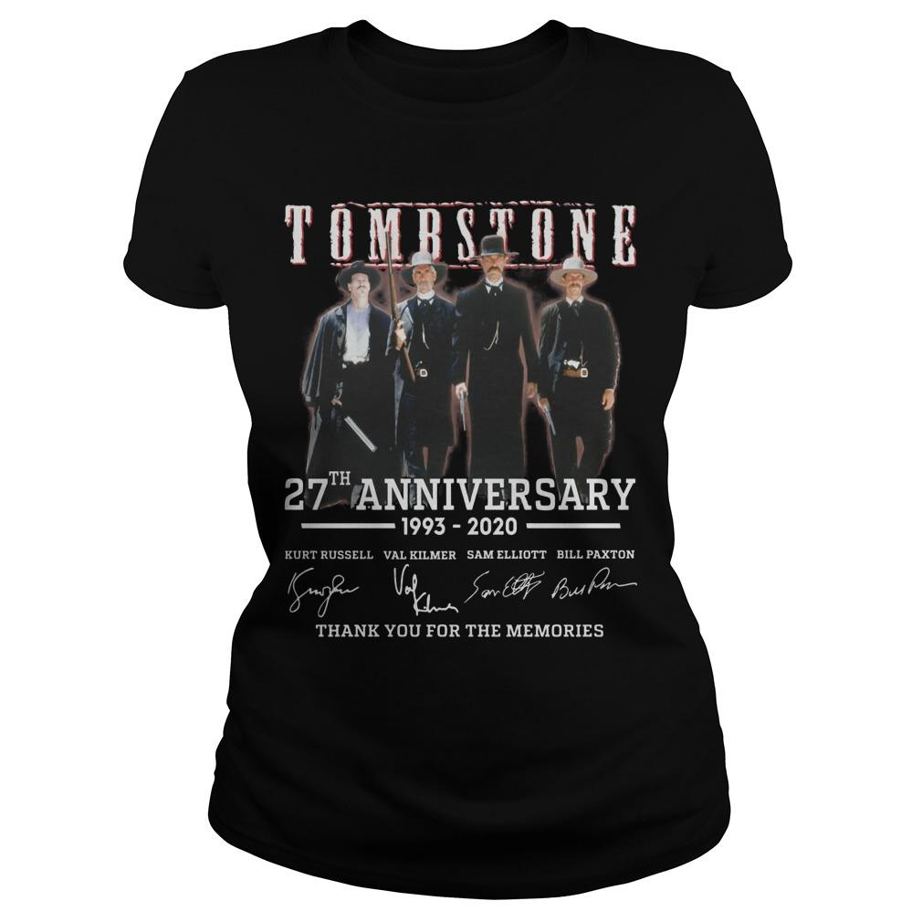 Tombstone 27th Anniversary Thank You For The Memories Longsleeve
