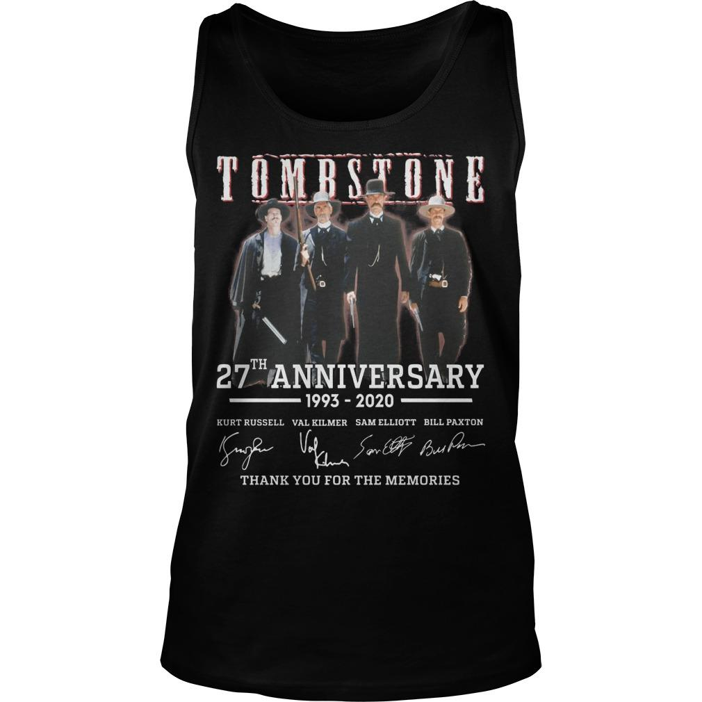 Tombstone 27th Anniversary Thank You For The Memories Tank Top