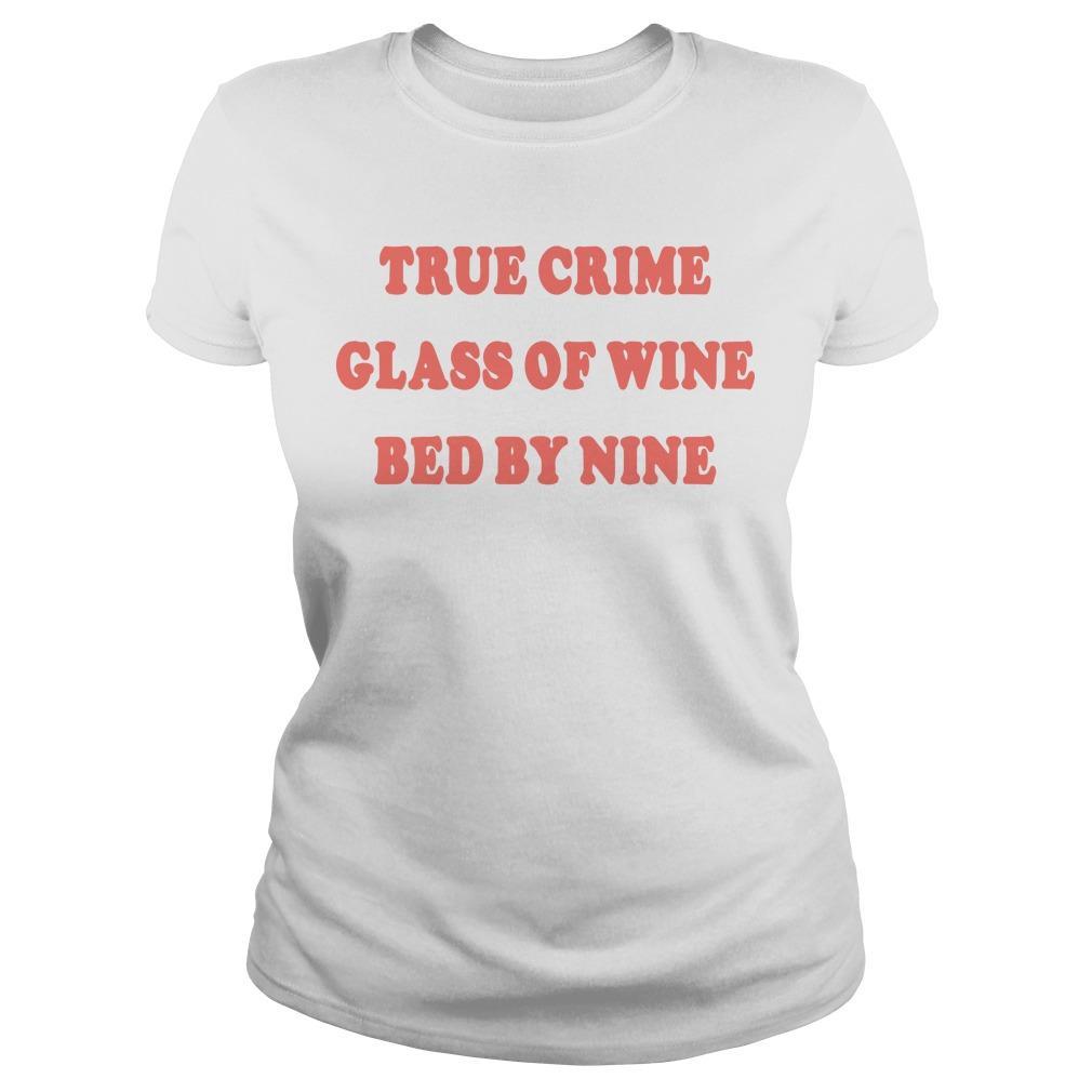 True Crime Glass Of Wine Bed By Nine Longsleeve