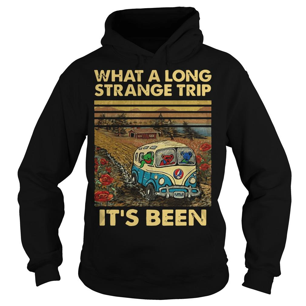 Vintage What A Long Strange Trip It's Been Hoodie