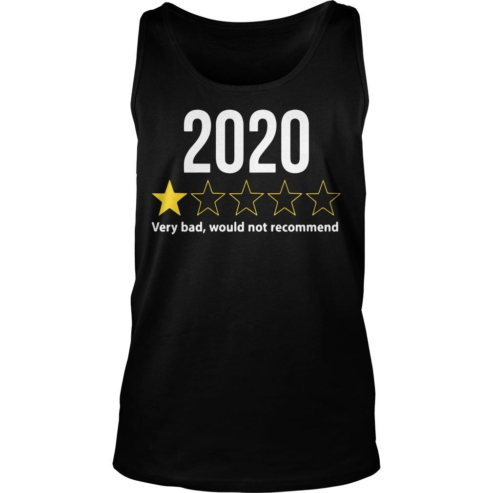 2020 Would Not Recommend Tank Top