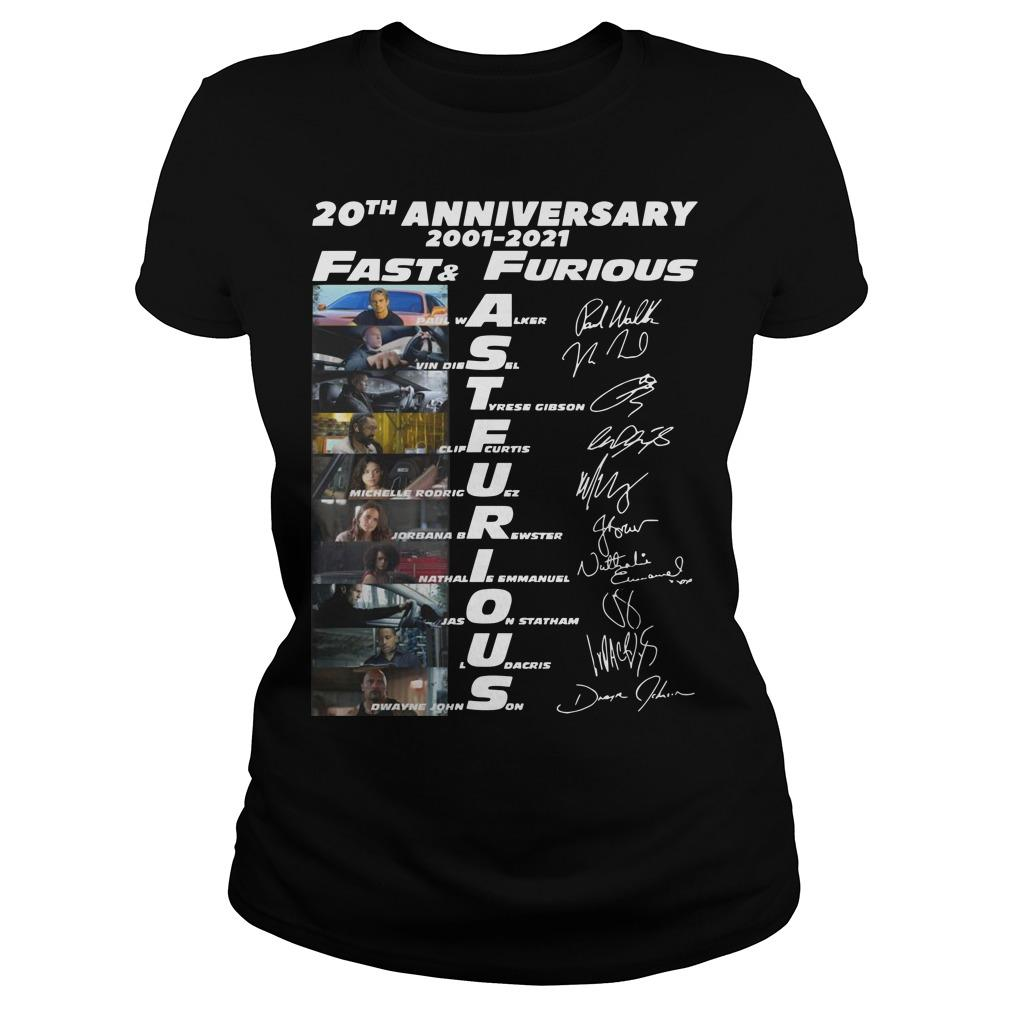 20th Anniversary 2001 2021 Fast And Furious Longsleeve