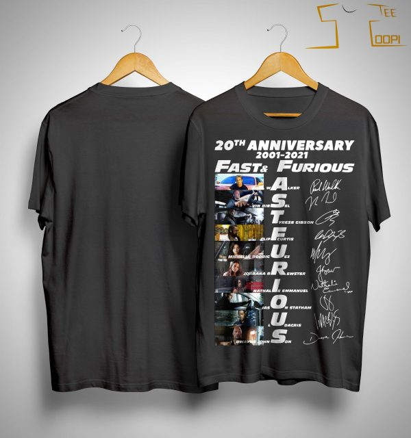 20th Anniversary 2001 2021 Fast And Furious Shirt
