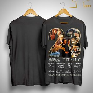 23 Years Of Titanic Thank You For The Memories Shirt