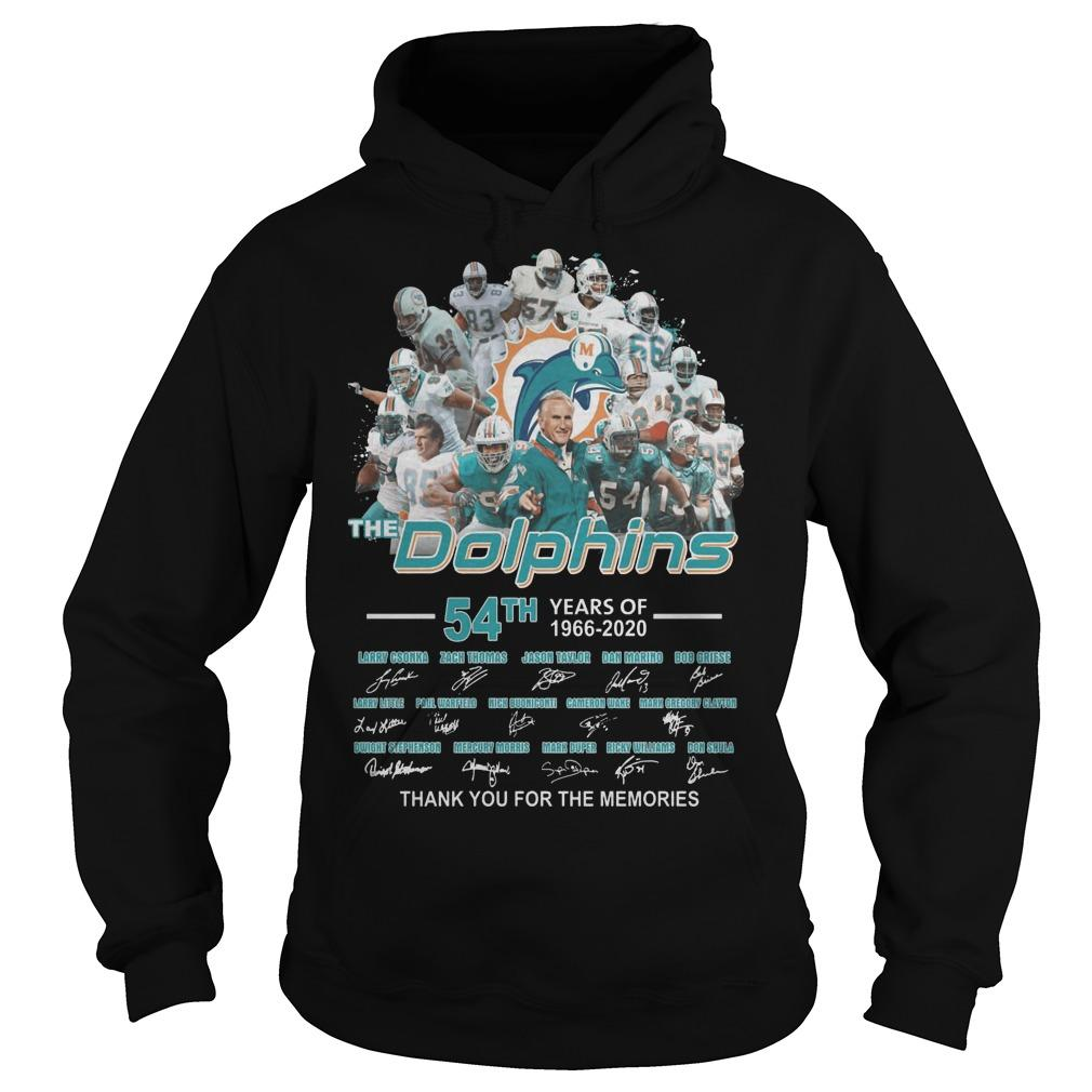 54th Years Of The Dolphins Thank You For The Memories Hoodie