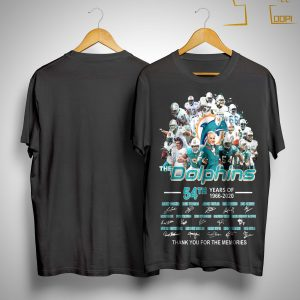 54th Years Of The Dolphins Thank You For The Memories Shirt