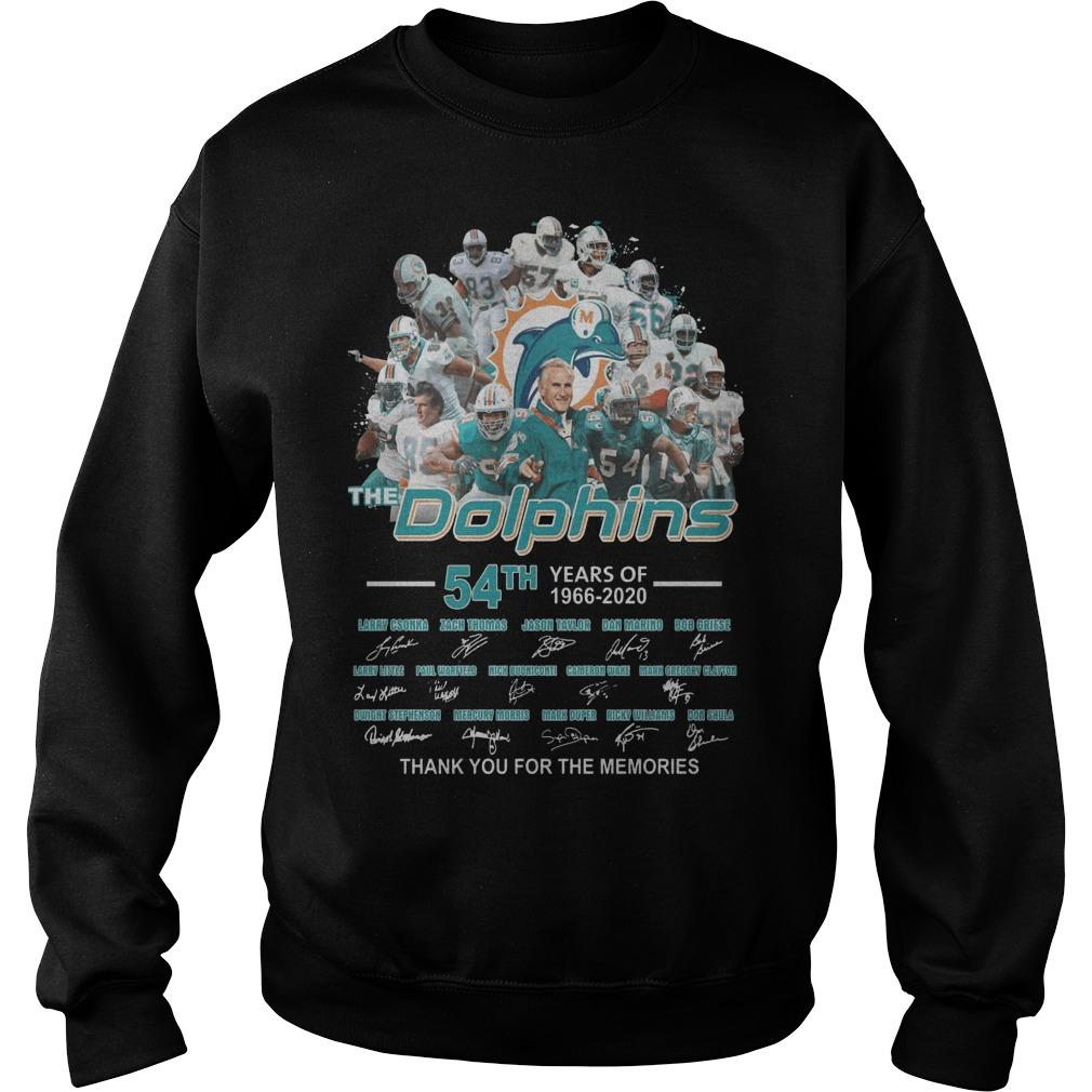 54th Years Of The Dolphins Thank You For The Memories Sweater