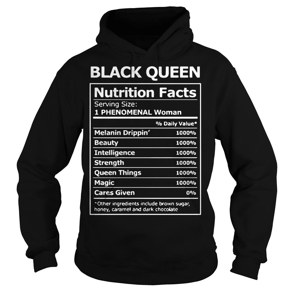 Black Queen Nutrition Facts 1 Phenomenal Woman Hoodie