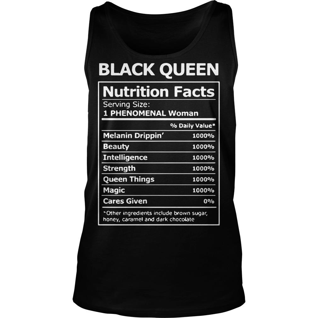 Black Queen Nutrition Facts 1 Phenomenal Woman Tank Top