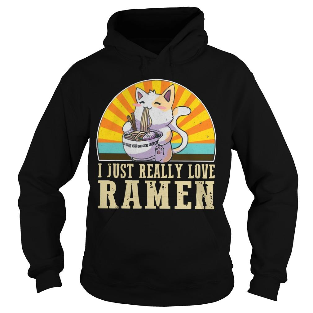 Cat I Just Really Love Ramen Hoodie