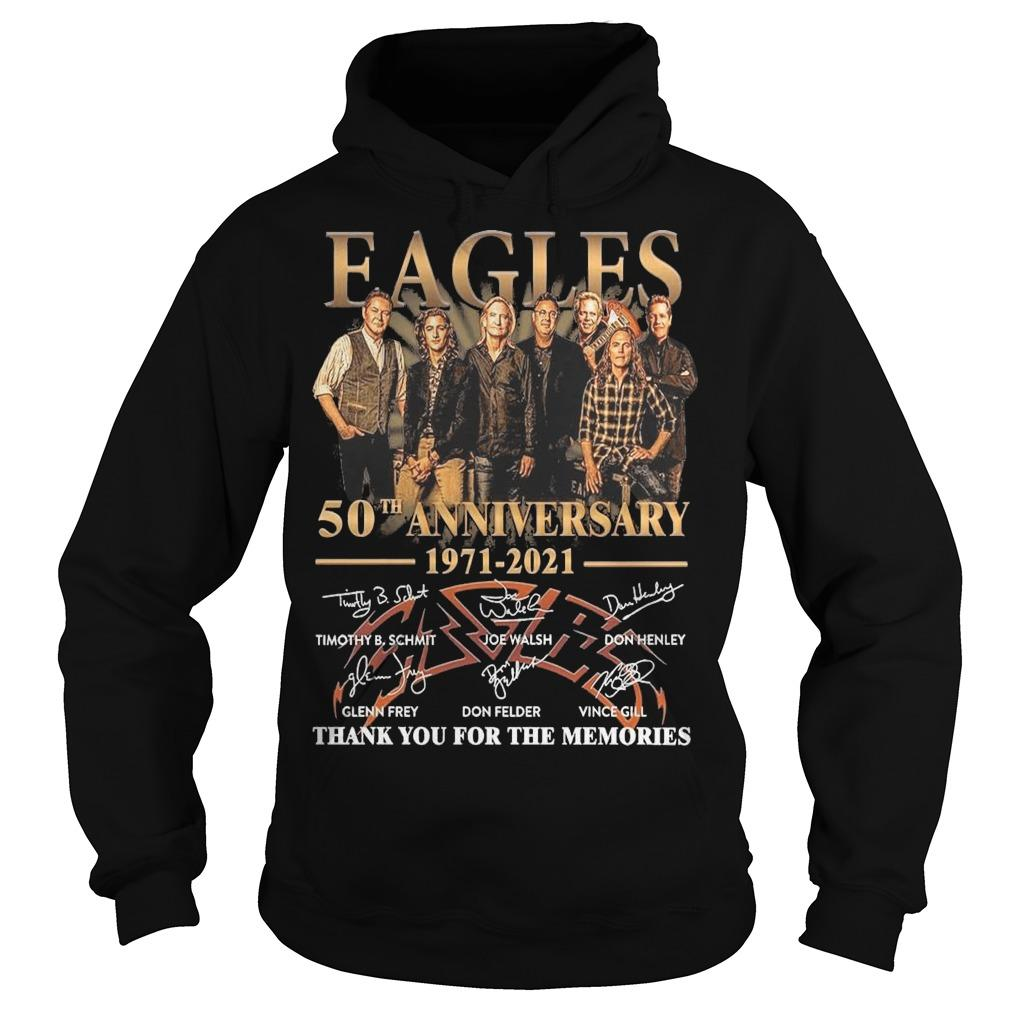 Eagles 50th Anniversary 1971 2021 Thank You For The Memories Hoodie