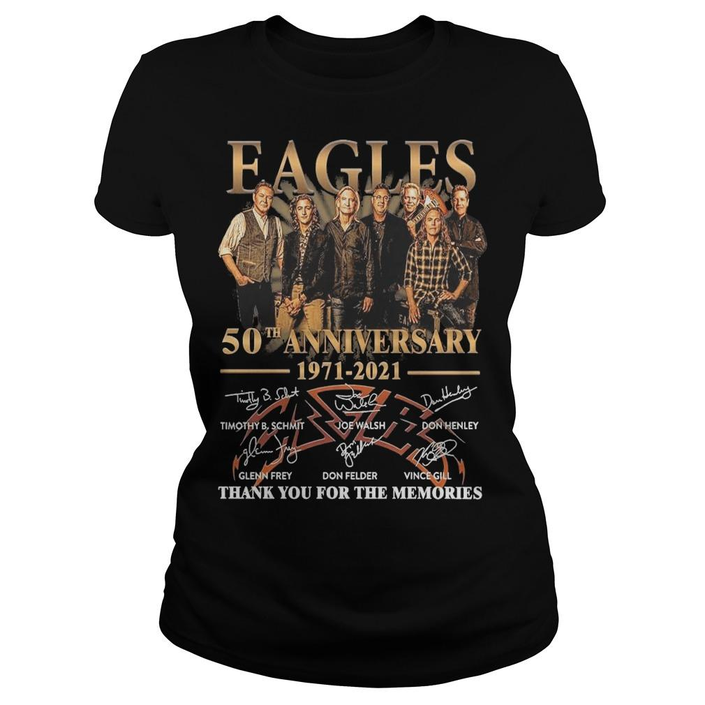 Eagles 50th Anniversary 1971 2021 Thank You For The Memories Longsleeve