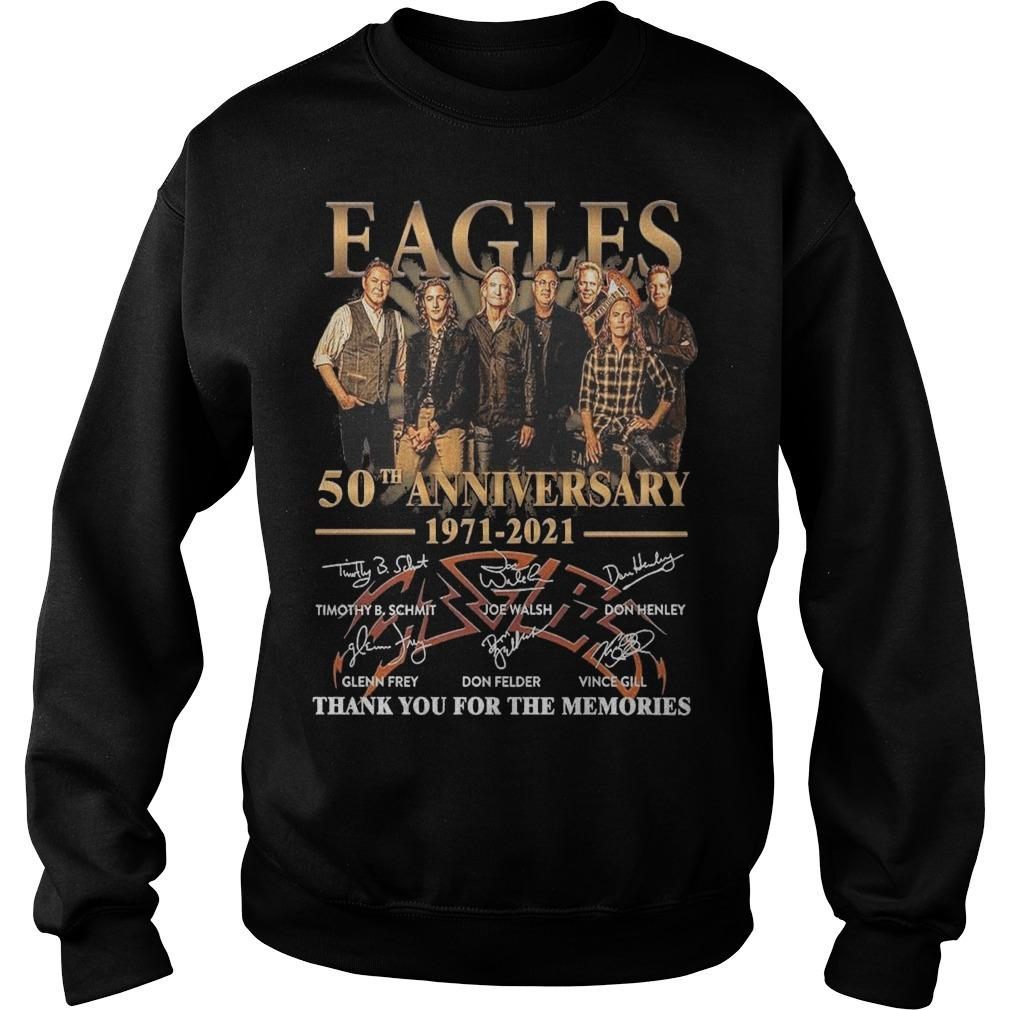 Eagles 50th Anniversary 1971 2021 Thank You For The Memories Sweater