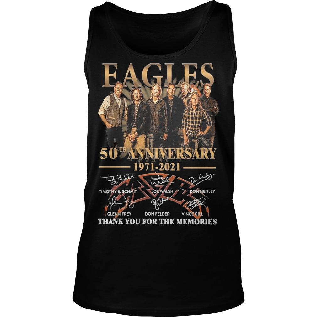 Eagles 50th Anniversary 1971 2021 Thank You For The Memories Tank Top