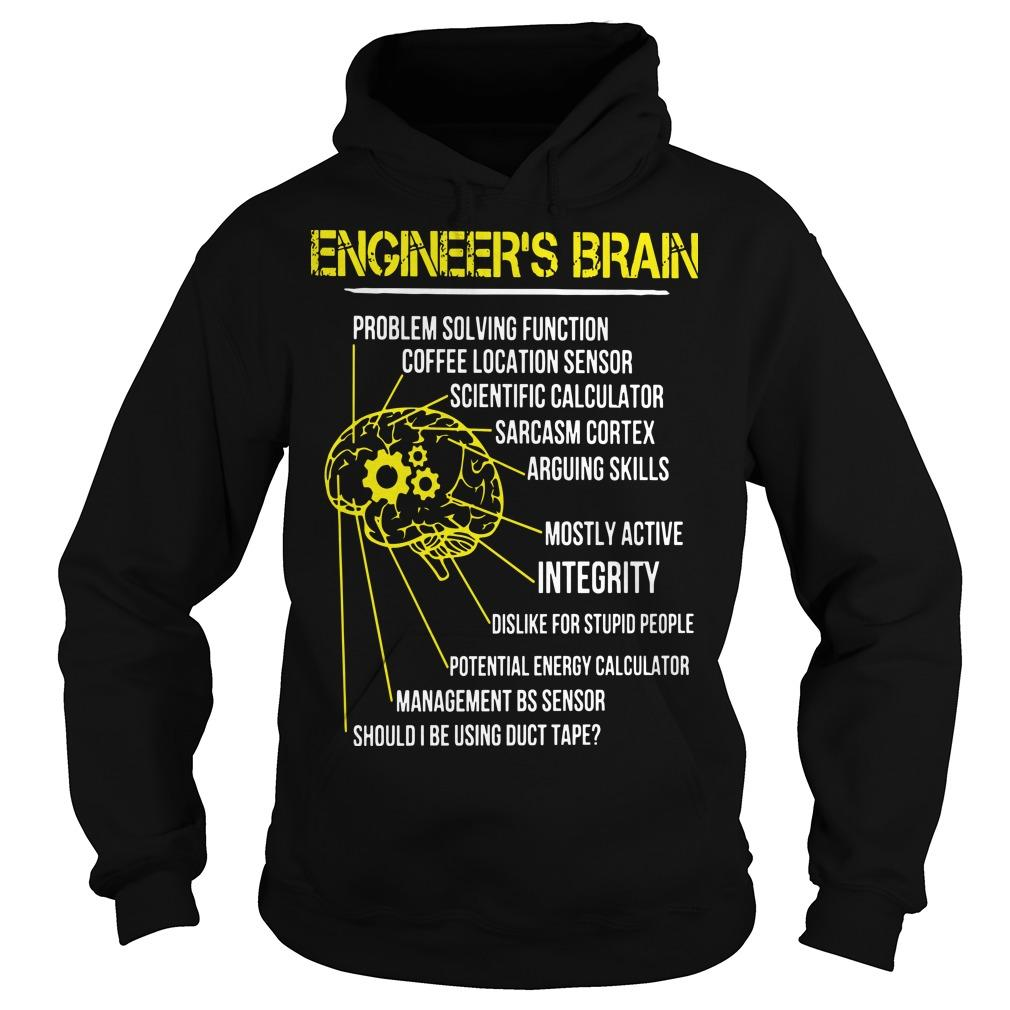 Engineer's Brain Problem Solving Function Coffee Location Sensor Hoodie