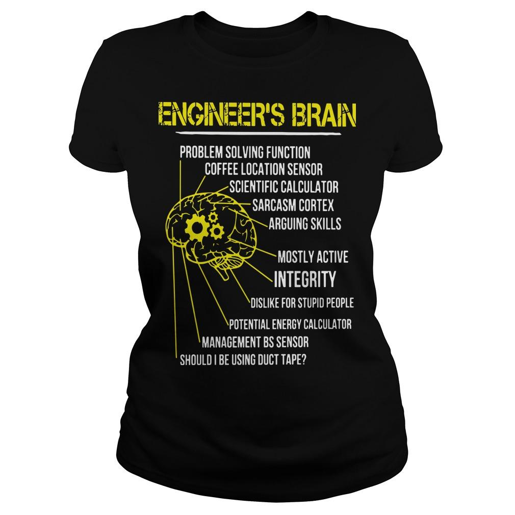 Engineer's Brain Problem Solving Function Coffee Location Sensor Longsleeve