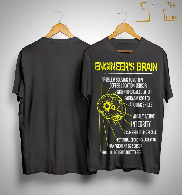 Engineer's Brain Problem Solving Function Coffee Location Sensor Shirt