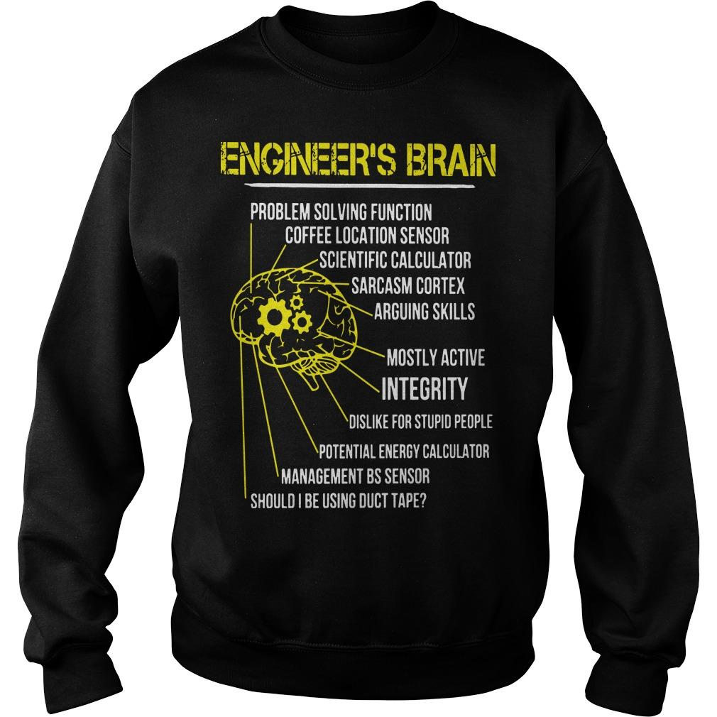 Engineer's Brain Problem Solving Function Coffee Location Sensor Sweater